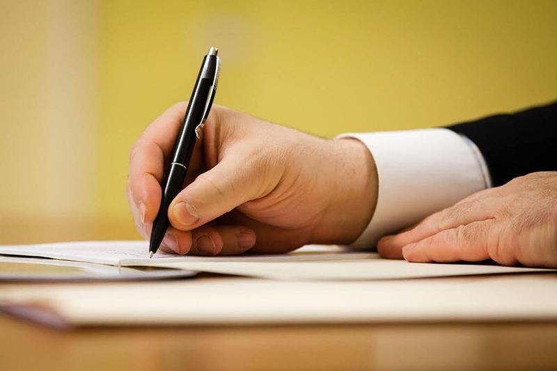 договор указ подписать