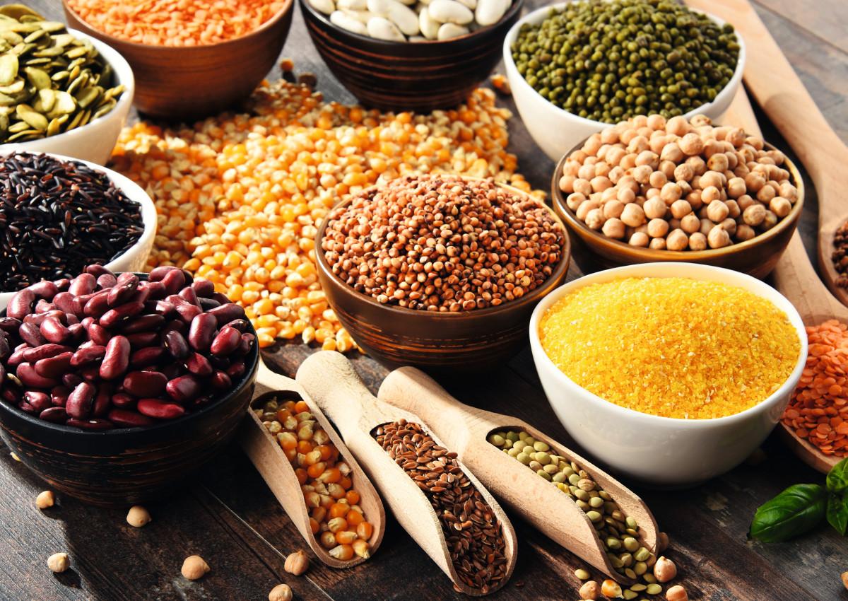 зерно разное бобовые grain